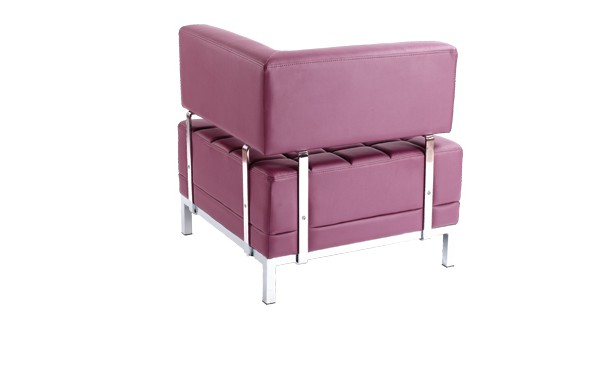 Location chauffeuse d 39 angle maleo prune et fauteuils phiapa line - Chauffeuse simili cuir ...
