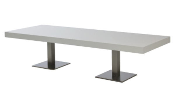 Location table lounge scala blanc rectangulaire et tables basses phiapa line Location table rectangulaire