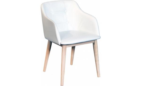 Location fauteuil madison blanc et chaises phiapa line for Fauteuil bois blanc