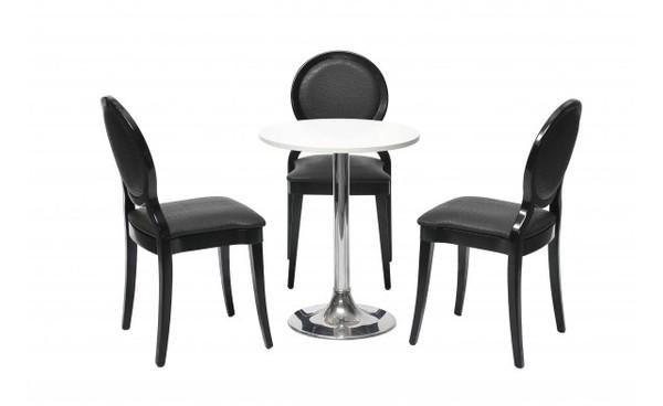 Location chaise brescia noir et chaises phiapa line for Mobilier salon professionnel