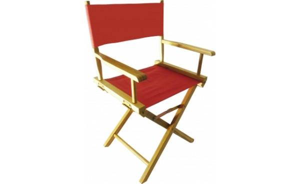 Location fauteuil r alisateur rouge et fauteuils for Chaise de realisateur
