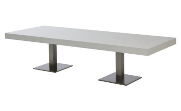 Location Table Lounge Scala Blanc Rectangulaire Et