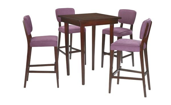 Location ensemble tabourets sofia violet table haute for Tabouret et table haute