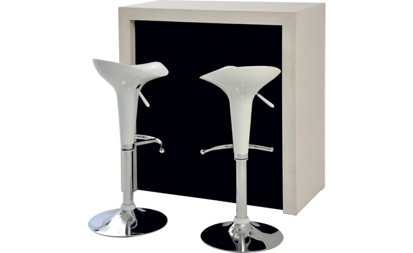 Location ensemble tabourets pump blanc comptoir color blanc et haut phiapa line - Bar pour salon ...