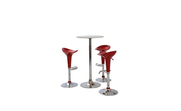 location ensemble tabourets pump rouge mange debout kuadra blanc et haut phiapa line. Black Bedroom Furniture Sets. Home Design Ideas