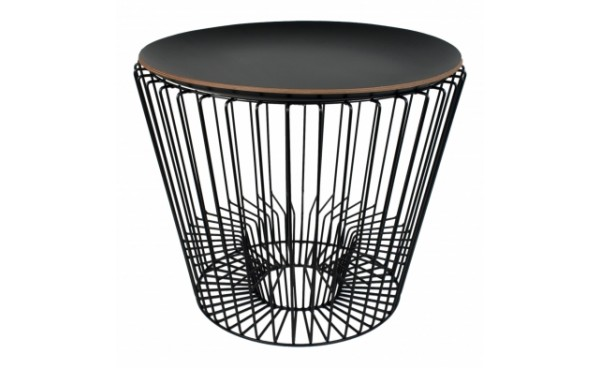 Location table basse penelope plateau noir et tables for Table filaire