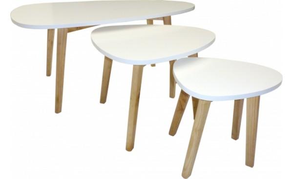 Table Basse Blanche Pied Bois Table Basse Blanche Et Bois