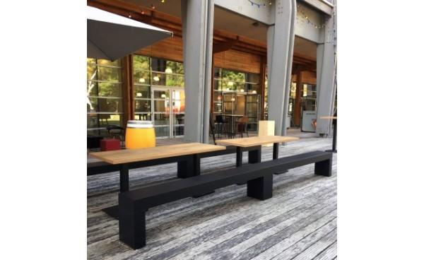Location Table Standard Scala Bois Pieds Noir Rectangulaire Et