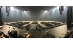 4570 chaises installées en quelques heures / U Arena
