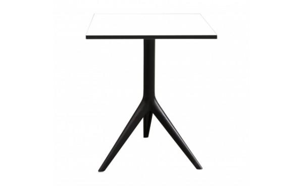 Location table lima 60x60 plateau blanc et tables for Table exterieur 60x60