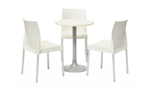 Location ensemble chaises ice blanc table clio blanc for Ensemble table chaise blanc
