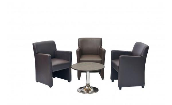 Location ensemble fauteuils palermo chocolat table for Fauteuil pour table basse