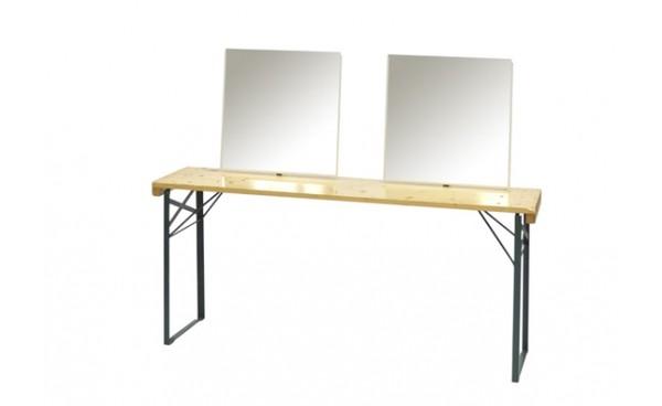 location table de maquillage double et cabines phiapa line. Black Bedroom Furniture Sets. Home Design Ideas