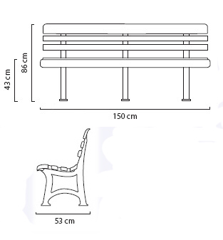Location banc square et bancs phiapa line for Plan de banc de jardin