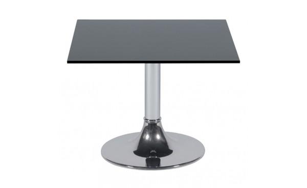 Location table basse kuadra 60x60 plateau verre noir et for Plateau en verre pour table basse